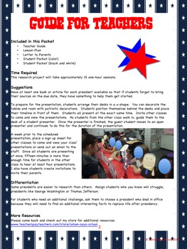 President  Research Project - Timeline and Puppet Show