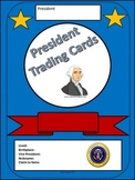 President Trading Card Activity for President's Day