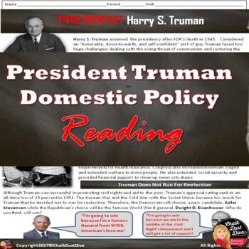 President Truman Domestic Policy Reading (U.S. History)