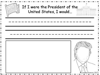 President Trump Coloring & Writing