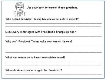 President Trump Printable Reader and Worksheet Actvities