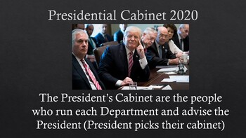 President Trump's 2020 Cabinet PowerPoint & Notes Sheet