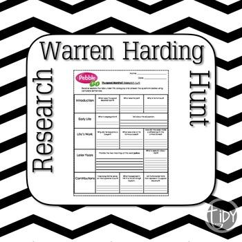 President Warren Harding Research Hunt