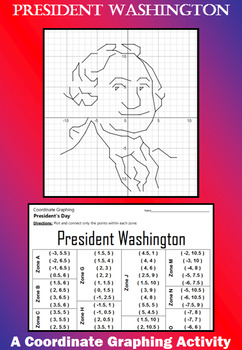 President Washington - A President's Day Coordinate Graphing Activity