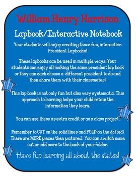 President William Henry Harrison Lapbook & Interactive Notebook