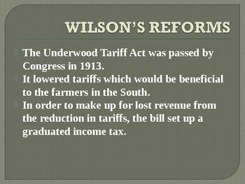 President Woodrow Wilson's New Freedom