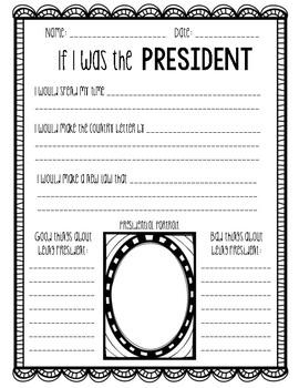President Writing Activity