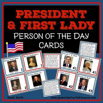 President and First Lady Person of the Day Cards