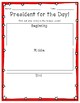 President for the Day Narrative Task! NO PREP