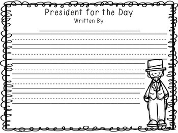 President for the Day Writing