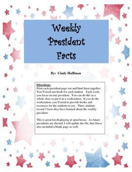 President of the Week Fact Book