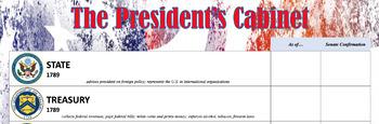 President's Cabinet Worksheet/Poster