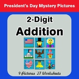 President's Day: 2-Digit Addition - Color-By-Number Myster