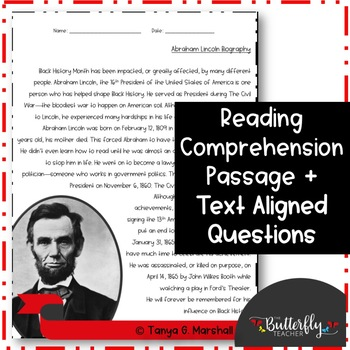 Presidents' Day Activity | Black History Month Reading Passage | Biographies