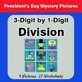 President's Day: 3-Digit by 1-Digit Division - Color-By-Number Mystery Pictures