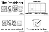 President's Day -- 4 Leveled Emergent Sight Word Readers