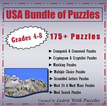 USA Bundle of Puzzles - 100+ Unique USA Puzzles Bundle