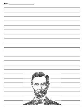 President's Day - Abraham Lincoln Lined Paper