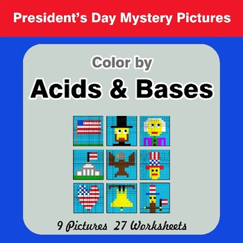 President's Day: Acids & Bases - Mystery Pictures