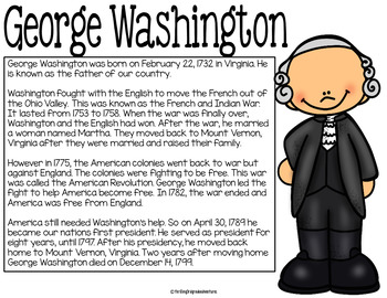 President's Day Activites with George Washington and Abraham Lincoln