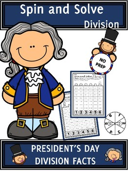 President's Day Activities Division Spin and Solve Math Centers
