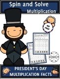 President's Day Activities Multiplication Spin and Solve M