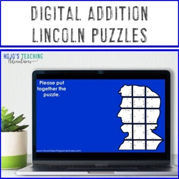 ADDITION President's Day Math Games or Centers | Abraham Lincoln Activities