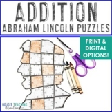 ADDITION President's Day Math Games or Centers   Abraham L