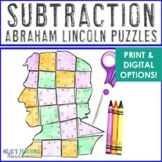 SUBTRACTION President's Day Math Centers or Puzzles   Abra