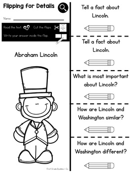 President's Day Activities | Printables + Book Companion Sheets