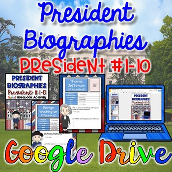 President's Day Activity-President Biographies #1-10 {Digital}