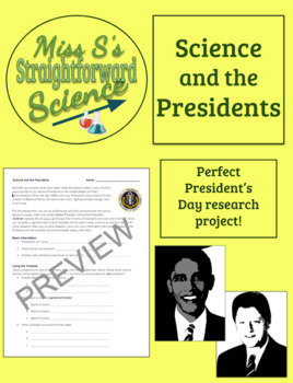 President's Day Activity: Science and the Presidents