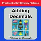 President's Day: Adding Decimals - Color-By-Number Mystery