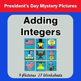 President's Day: Adding Integers - Color-By-Number Mystery