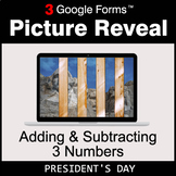 President's Day: Adding & Subtracting 3 Numbers - Google F