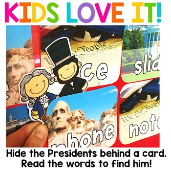 President's Day Alphabet and Sight Word Game