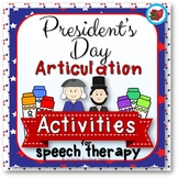 President's Day Articulation Activities for Speech Therapy