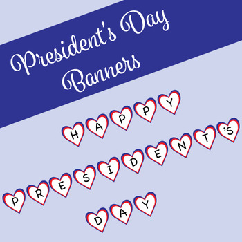 President's Day Banner and Welcome Banner