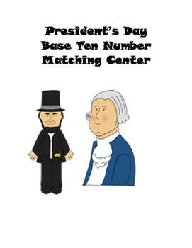 President's Day Base Ten Number Matching Center