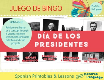 President's Day Bingo in Spanish