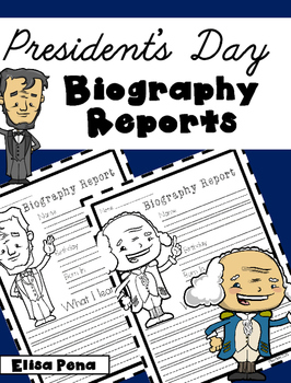 President's Day Biography Reports Freebie
