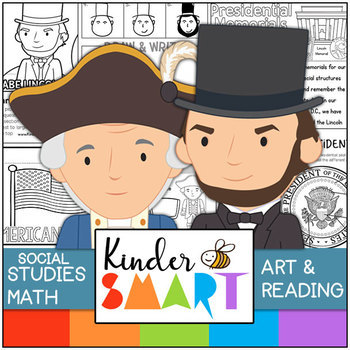 President's Day Kindergarten Math, Art and Reading Theme Pack. Kinder S.M.A.R.T.