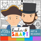 President's Day Kindergarten Math, Art and Reading Theme P