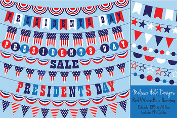 President's Day Bunting Clipart