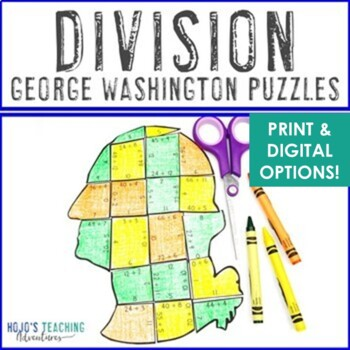 DIVISION President's Day Math Centers or Activities | George Washington Games
