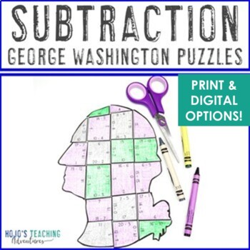President's Day Centers | President's Day Math Activities | Subtraction Puzzles