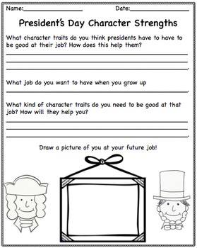 President's Day Character Education {Freebie!!}
