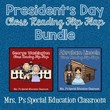 President's Day Close Reading Flip Flap Bundle