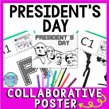 President's Day Collaborative Poster!  Mount Rushmore - Team Work Activity