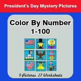 President's Day: Color By Number 1-100 | President's Day M